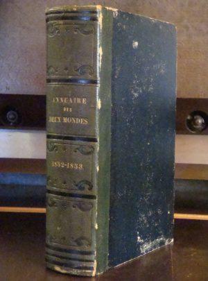 Annuaire des deux Mondes… 1852-1853