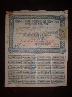 Βιομηχανία Ελαιουργίας Κερκύρας – Ανώνυμος Εταιρεία