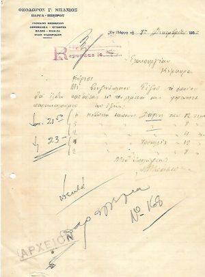 Θεόδωρος Γ. Μπάσιος έμπορος Πάργα