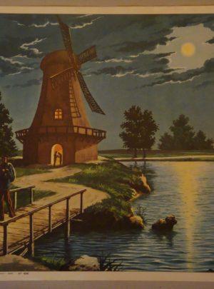 Νυκτερινό τοπίο στις Κάτω Χώρες