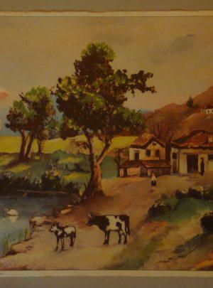 Βουκολική σκηνή σε χωριό